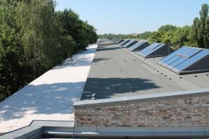 Blick über das Dach der Ladestraße